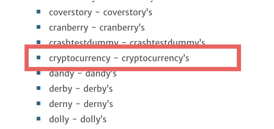 je schrijft cryptocurrency's!
