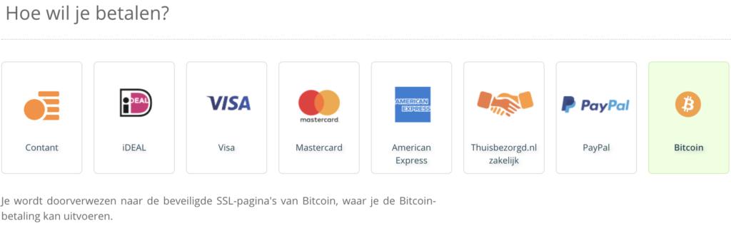 betalen met bitcoins thuisbezorgd nl